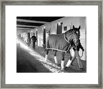 Secretariat Vintage Horse Racing #10 Framed Print by Retro Images Archive