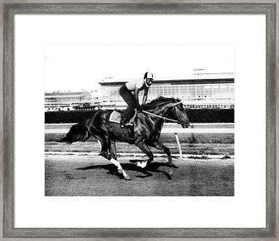 Secretariat Vintage Horse Racing #14 Framed Print by Retro Images Archive