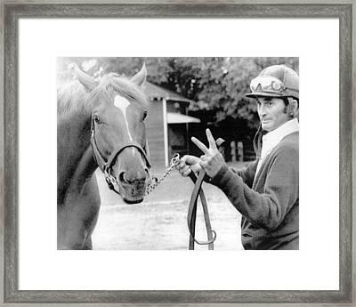 Secretariat Vintage Horse Racing #15 Framed Print
