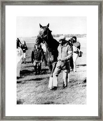 Secretariat Vintage Horse Racing #16 Framed Print