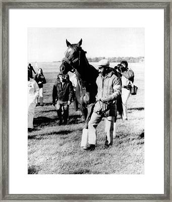 Secretariat Vintage Horse Racing #16 Framed Print by Retro Images Archive