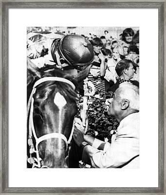 Secretariat Vintage Horse Racing #19 Framed Print