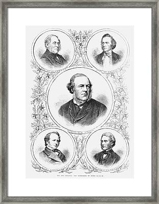 Secretaries Of State, 1869 Framed Print