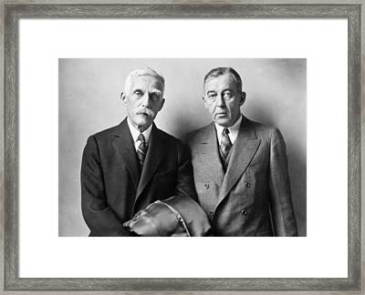 Secretary Andrew Mellon Framed Print by Underwood Archives