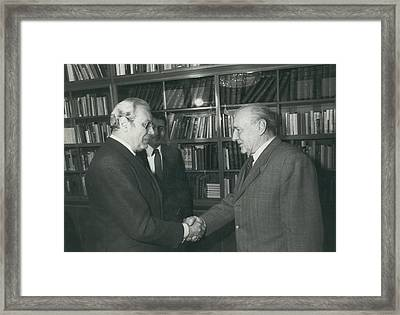 Secretary-general Visits Hungary Framed Print by Retro Images Archive