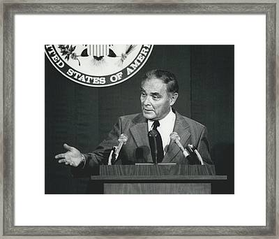 Secretary Haig Holds Press Conference Framed Print by Retro Images Archive