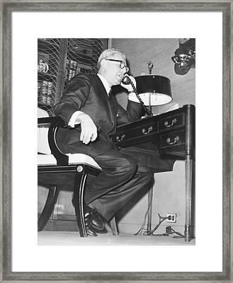 Secretary Of Labor Goldberg Framed Print
