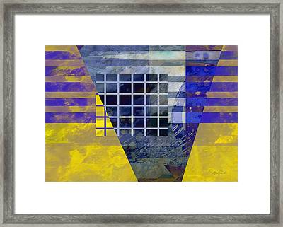 Secrets - Abstract Art Framed Print by Ann Powell