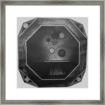 Framed Print featuring the painting Secrets Of Dark Matter And Love - The Painting by James Lanigan Thompson MFA