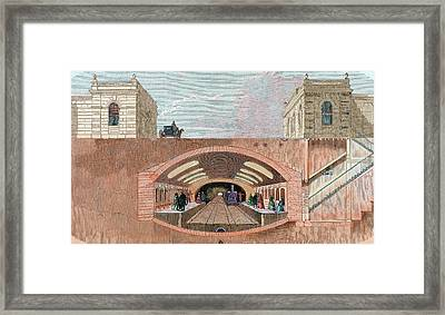 Section Of A London Underground Station Framed Print by Prisma Archivo