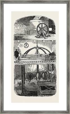 Section Of The Manufactory Framed Print
