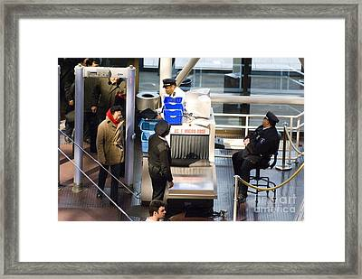Security Checks At D.c. Museum Framed Print by Mark Williamson