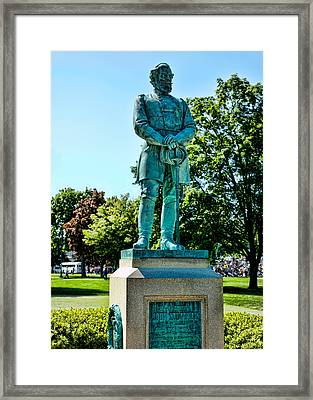 Sedgwick Monument At West Point Framed Print by Dan McManus