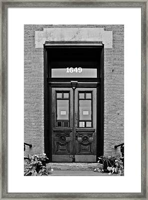 Sedgwick Street Old Town Chicago Framed Print by Christine Till