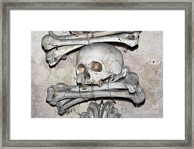 Sedlec Ossuary - Charnel-house Framed Print by Michal Boubin