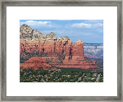 Framed Print featuring the photograph Sedona 1 by Tom Doud