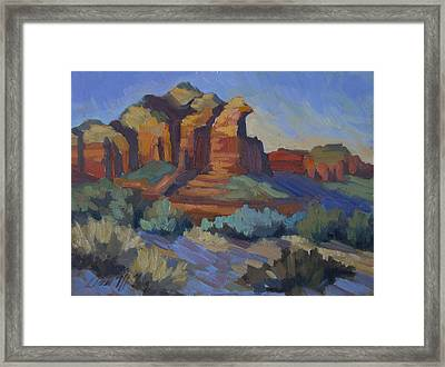 Sedona Afternoon Light Framed Print by Diane McClary