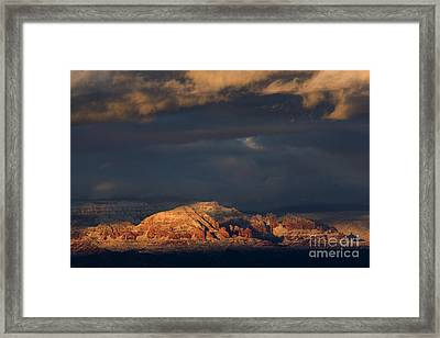 Framed Print featuring the photograph Sedona Arizona After The Storm by Ron Chilston