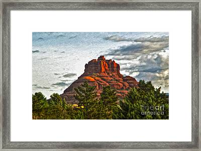 Sedona Arizona Bell Rock Painting Framed Print by Gregory Dyer