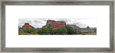 Sedona Arizona Bell Rock Panorama Framed Print by Gregory Dyer