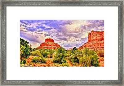 Sedona Arizona Bell Rock Vortex Framed Print