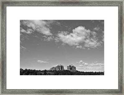 Sedona Arizona Big Sky In Black And White Framed Print by Gregory Dyer