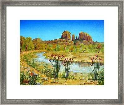 Sedona Arizona Framed Print by Jerome Stumphauzer