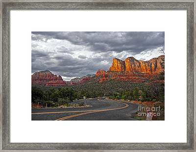 Sedona Arizona Lost Highway Framed Print by Gregory Dyer