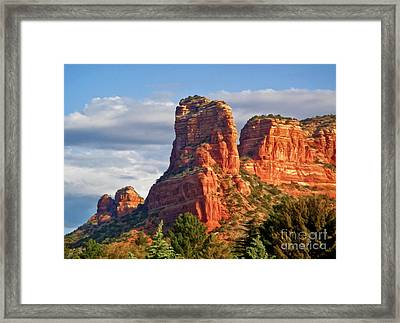 Sedona Arizona Mountain Peak Framed Print by Gregory Dyer
