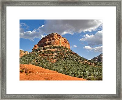 Sedona Arizona Mountain View Framed Print by Gregory Dyer