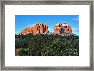Sedona Arizona Mountains - 04 Framed Print by Gregory Dyer