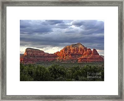 Sedona Arizona Mountains And Big Sky Framed Print by Gregory Dyer