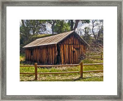 Sedona Arizona Old Barn Framed Print by Gregory Dyer