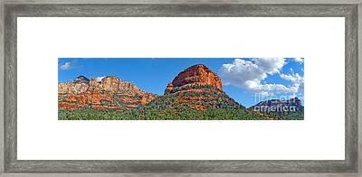 Sedona Arizona Panorama Framed Print by Gregory Dyer
