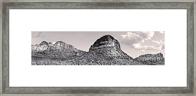 Sedona Arizona Panorama In Black And White Framed Print by Gregory Dyer