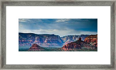 Sedona Arizona Panorama Framed Print by Terry Garvin