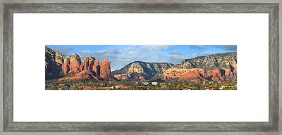 Sedona Arizona Panoramic Framed Print by Mike McGlothlen