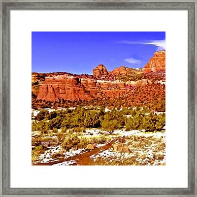 Sedona Arizona Secret Mountain Wilderness Framed Print by Bob and Nadine Johnston