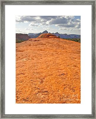 Sedona Arizona Submarine Rock Framed Print by Gregory Dyer