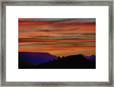 Sedona Az Sunset 2 Framed Print by Ron White