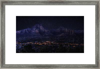 Sedona By Night Framed Print