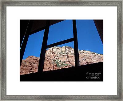 Framed Print featuring the photograph Sedona Chapel 4 by Tom Doud
