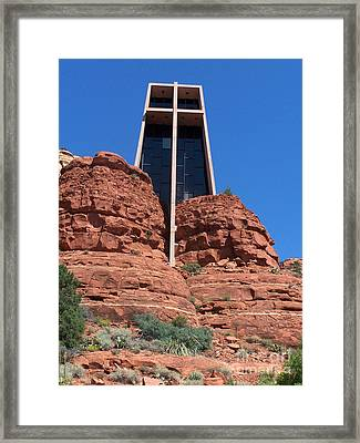 Framed Print featuring the photograph Sedona Chapel 5 by Tom Doud