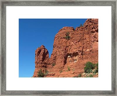 Sedona Chapel Rocks Framed Print
