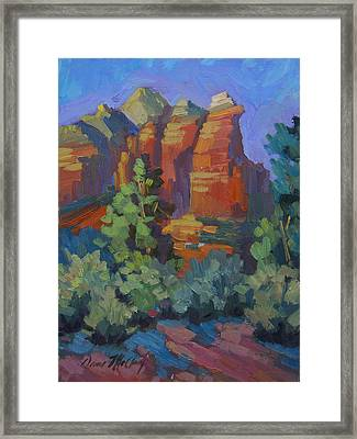 Sedona Coffee Pot Rock Framed Print by Diane McClary