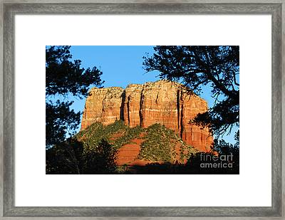 Sedona Courthouse Butte  Framed Print
