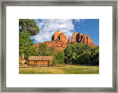 Sedona Landmark  Framed Print by Tod and Cynthia Grubbs