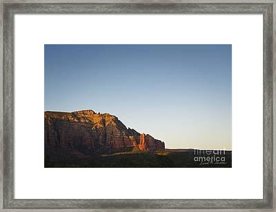 Sedona Landscape Xi Framed Print by Dave Gordon