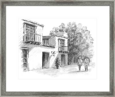 Sedona Market Framed Print by Sarah Parks