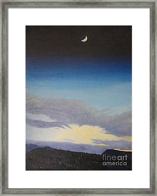 Sedona Moon Framed Print by Beverly Theriault